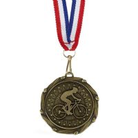 COMBO Cycling Medal with 10mm R/W/B-AM1063.12